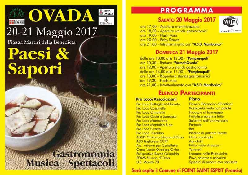 PAESI E SAPORI OVADA (Alessandria) 20-21 Maggio 2017